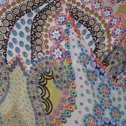 Etro Pale Grey Floral Print Silk Faux Wrap Blouse S