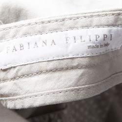 Fabiana Filippi Beige Cargo Pocket Detail Pants XXS