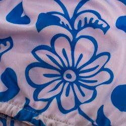 Non-Medical Reusable Blue Flower Printed Cotton Face Mask (Available for UAE Customers Only)