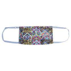 Collars & Cuffs Non-Medical Handmade Mosaic Blue Face Mask (Available for UAE Customers Only)