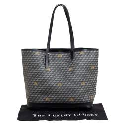 Faure Le Page Black Coated Canvas and Leather Daily Battle Tote