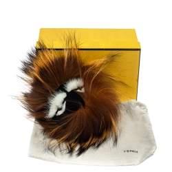 Fendi Brown Fox Fur Monster Eyes Bag Charm