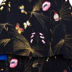 Fendi Black Crepe Printed Off Shoulder Jumpsuit S