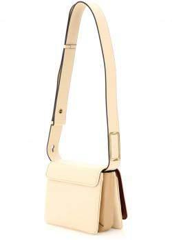 Fendi Beige Leather ID Small Shoulder Bag