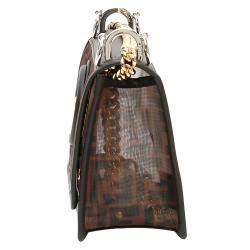 Fendi Brown Leather Mini Kan Bag