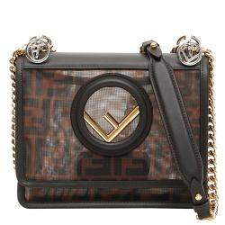 Fendi Brown Leather Mini Kan Bag