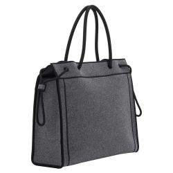 Fendi Gray Wool Shopper Tote