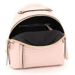 حقيبة ظهر فندي أف أف ميني جلد نابا وردية/ نود