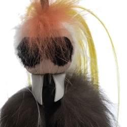 Fendi Multicolor Mink Fur Mini Karlito Bag Charm
