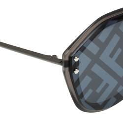 Fendi Grey Logo Mirrored M0039/G/S Fabulous Shield Sunglasses