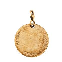 Fendi Gold Tone Crystal S Identification Pendant