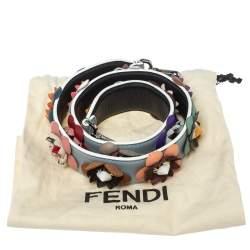 Fendi Multicolor Flowerland Leather Strap You Shoulder Strap