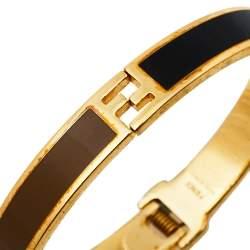 Fendi The Fendista Bicolor Enamel Gold Tone Bracelet S