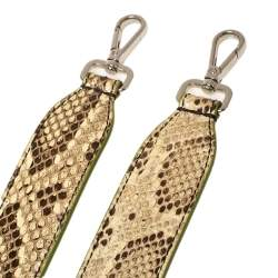 Fendi Beige/Brown Python Strap You Shoulder Strap