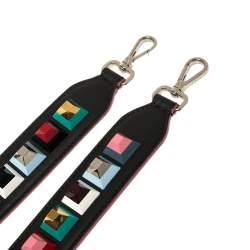 Fendi Multicolor Leather Studded Strap You Shoulder Bag Strap