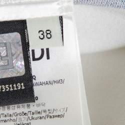 Fendi X Joshua Vides Monochrome Knit Fitted Midi Skirt S