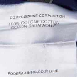 Fendi Indigo Cotton Draw String Long Sleeve Top M