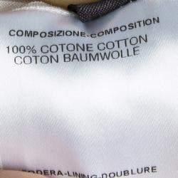 Fendi White Cotton Long Sleeve Tie Detail Sheer Blouse M
