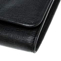 Fendi Black Leather Crayons Continental Wallet