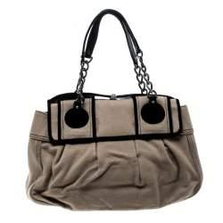 Fendi Brown/Black Wool B Shoulder Bag