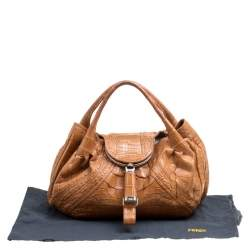 Fendi Brown Crocodile Spy Bag