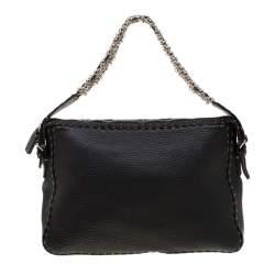 Fendi Black Leather Shoulder Bag