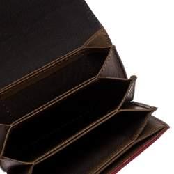Fendi Light Olive Leather Card Holder