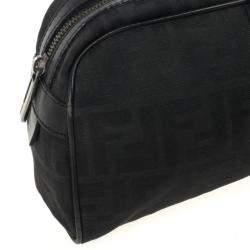 Fendi Black Zucca Canvas East/West Satchel Bag