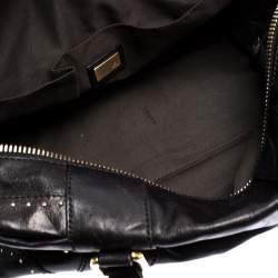 حقيبة ساتشل فندي مرصعة جلد سوداء