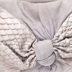 Fendi Lavender Python,Suede and Leather Knot Shoulder Bag