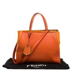 Fendi Orange Leather Medium 2Jours Tote