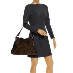 Fendi Tobacco Zucca Canvas and Leather Chef Tote