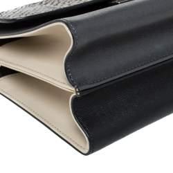 Fendi Multicolor Leather and Python Mini Demi Jour Shoulder Bag