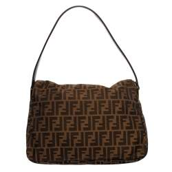 Fendi Tobacco Zucca Canvas and Leather Big Mama Forever Shoulder Bag