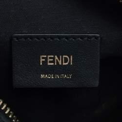 Fendi Black Brown Zucca Coated Canvas and Leather Mini Camera Bag