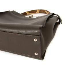 Fendi Grey Python Leather Medium Peekaboo Bag