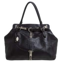Fendi Dark Brown Selleria Leather Grand Borghese Tote