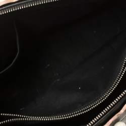 حقيبة فندي باي ذا واي صغيرة مزخرفة لؤلؤ جلد أسود