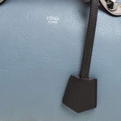 حقيبة فندي باي ذا واي بوسطن جلد زرقاء/ رمادية