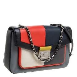 Fendi Multicolor Leather Be Baguette Shoulder Bag