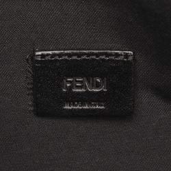 Fendi Black Leather Karlito Flat  Clutch