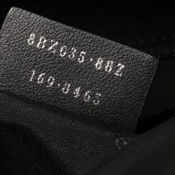 Fendi Black Nylon, Leather and Fur Monster Eyes Backpack