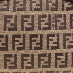 Fendi Beige/Brown Zucchino Canvas Pouch