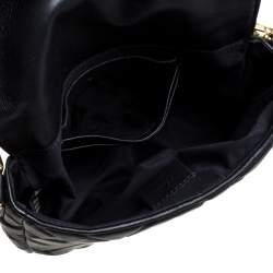 Fendi Black Zucca Embossed Leather Baguette Bag