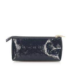 Fendi Blue/Dark Blue Zucchino Patent Leather Wallet