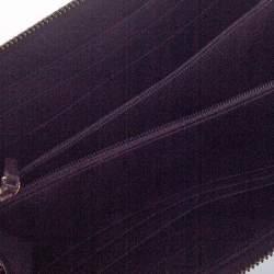 Fendi Tobacco Zucca Canvas and Leather Zip Around Wallet