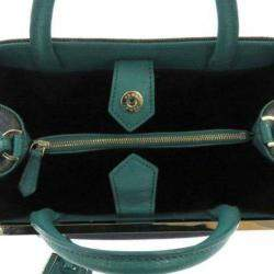 Fendi Black/Green Denim Petite 2Jours Satchel Bag