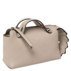 Fendi Beige Leather Crystal Embellished By The Way Mini Bag