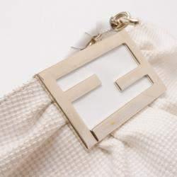 Fendi Beige and White Zucca Fabric Mia Shoulder Bag