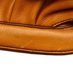Fendi Orange Leather Borsa Doctor Shoulder Bag